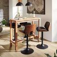 Barski Stol Jeff - oreh/črna, Trendi, kovina/tekstil (47/87-108/50cm) - Premium Living