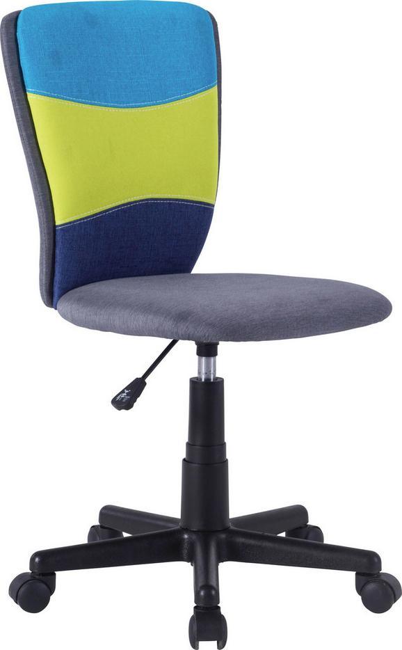 Drehstuhl in Bunt - Multicolor/Schwarz, Kunststoff/Textil (41/81-93/51,5cm) - MÖMAX modern living
