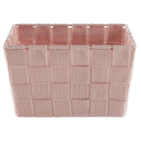 Košara Nelly - roza, Moderno, umetna masa (19/19/11cm)