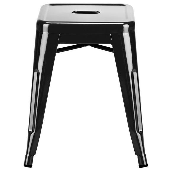 Zložljiv Stolček Manchester - črna, kovina/umetna masa (38/46/38cm) - Premium Living