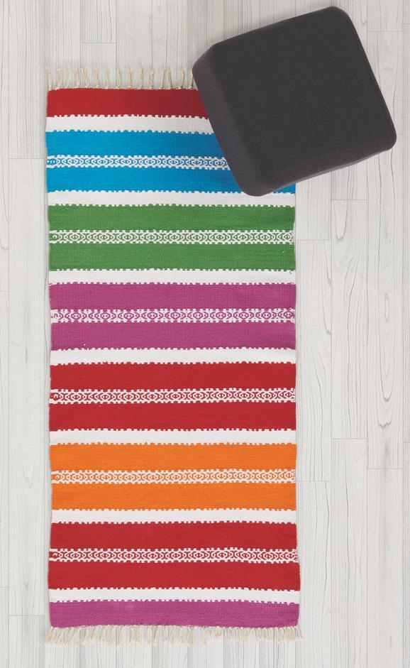 Handwebteppich Marani 70x140 cm - Blau/Pink, Textil (70/140cm) - Mömax modern living