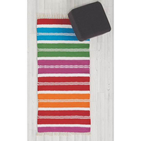 TEPPICH MARANI ca.70X140CM - Blau/Pink, Textil (70/140cm) - Bessagi Home