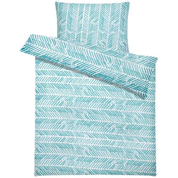 Lenjerie Pentru Pat Nadine - Verde mentă/Albastru, Material textil (140/200cm) - Based