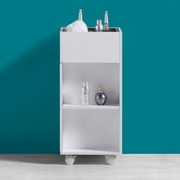 Badezimmerschrank mit Rollen Bianco - Weiß/Grau, MODERN, Kunststoff (30,6/66/30cm) - MÖMAX modern living