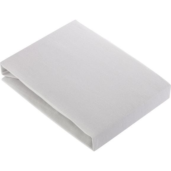 Spannbetttuch Basic in Silber ca. 180x200cm - Silberfarben, Textil (180/200cm) - Mömax modern living