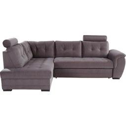 Sedežna Garnitura Falco - temno siva, Moderno, kovina/tekstil (183/251cm) - MÖMAX modern living