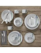 Kombiservice Alessia 30-teilig - Blau/Weiß, MODERN - Mömax modern living