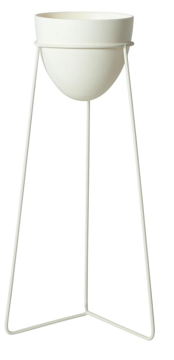 Pflanztopf Pura Weiß 30x65 cm - Weiß, Kunststoff (30/65cm)