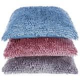 Zierkissen Chenille in versch.Farben - Blau/Rosa, Textil (45/45cm) - Mömax modern living