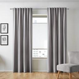 Samtvorhang Smilla ca.135x245cm - Hellgrau, Textil (135/245cm) - Mömax modern living