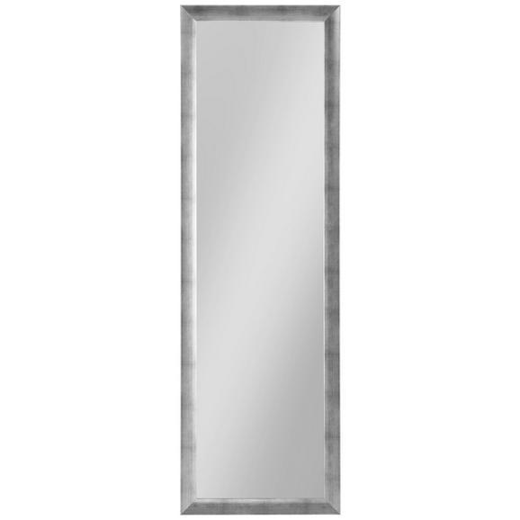 Stensko Ogledalo Orsay -sb- - srebrna, Moderno, steklo/leseni material (50/160cm)