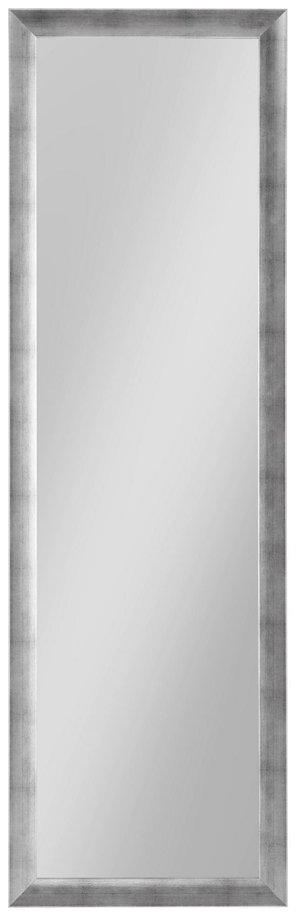 Wandspiegel in Silber ca. 50x160cm - Silberfarben, MODERN, Glas/Holzwerkstoff (50/160cm) - Mömax modern living