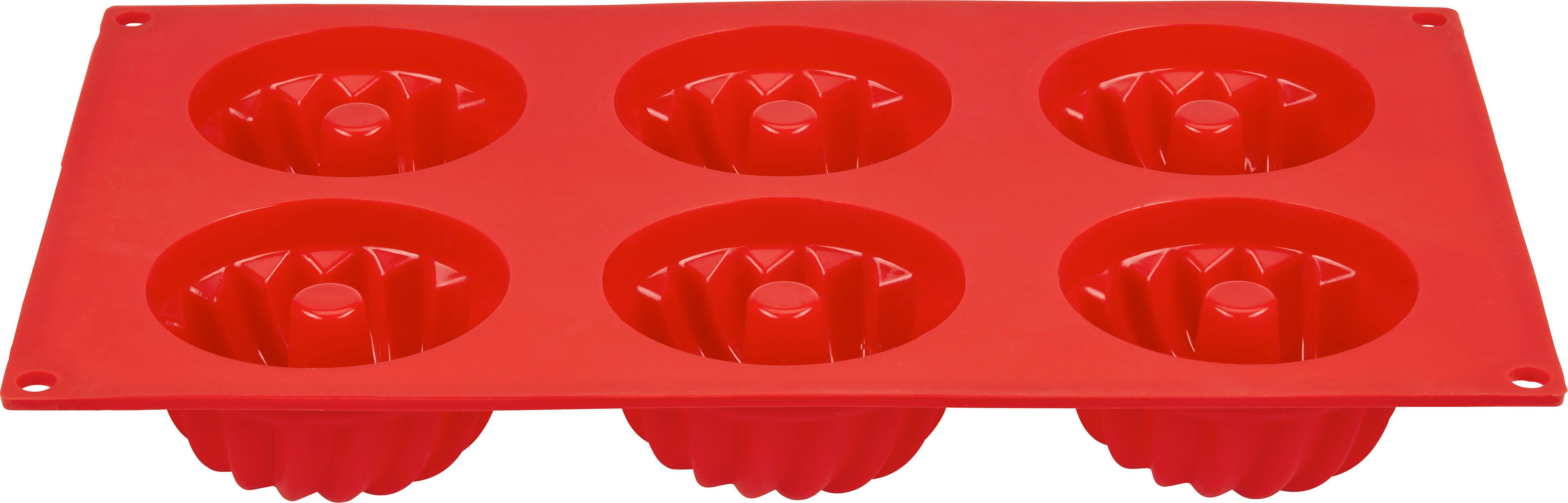 Muffinform Silke in Rot aus Silikon - Rot, Kunststoff (29,5/14/3,4cm) - MÖMAX modern living
