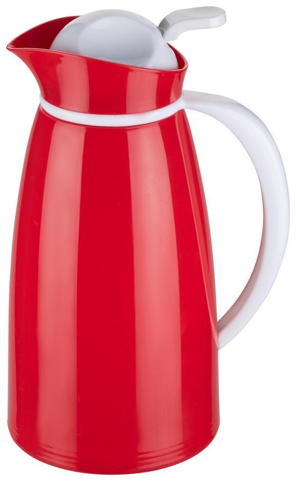 Isolierkanne Ronda in Rot/Weiß - Rot/Weiß, Kunststoff (13,5/28cm) - Mömax modern living