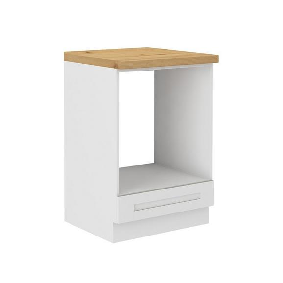 Corp Cuptor Încorporabil Luisa - alb, Konventionell, compozit lemnos (60/86/60cm)