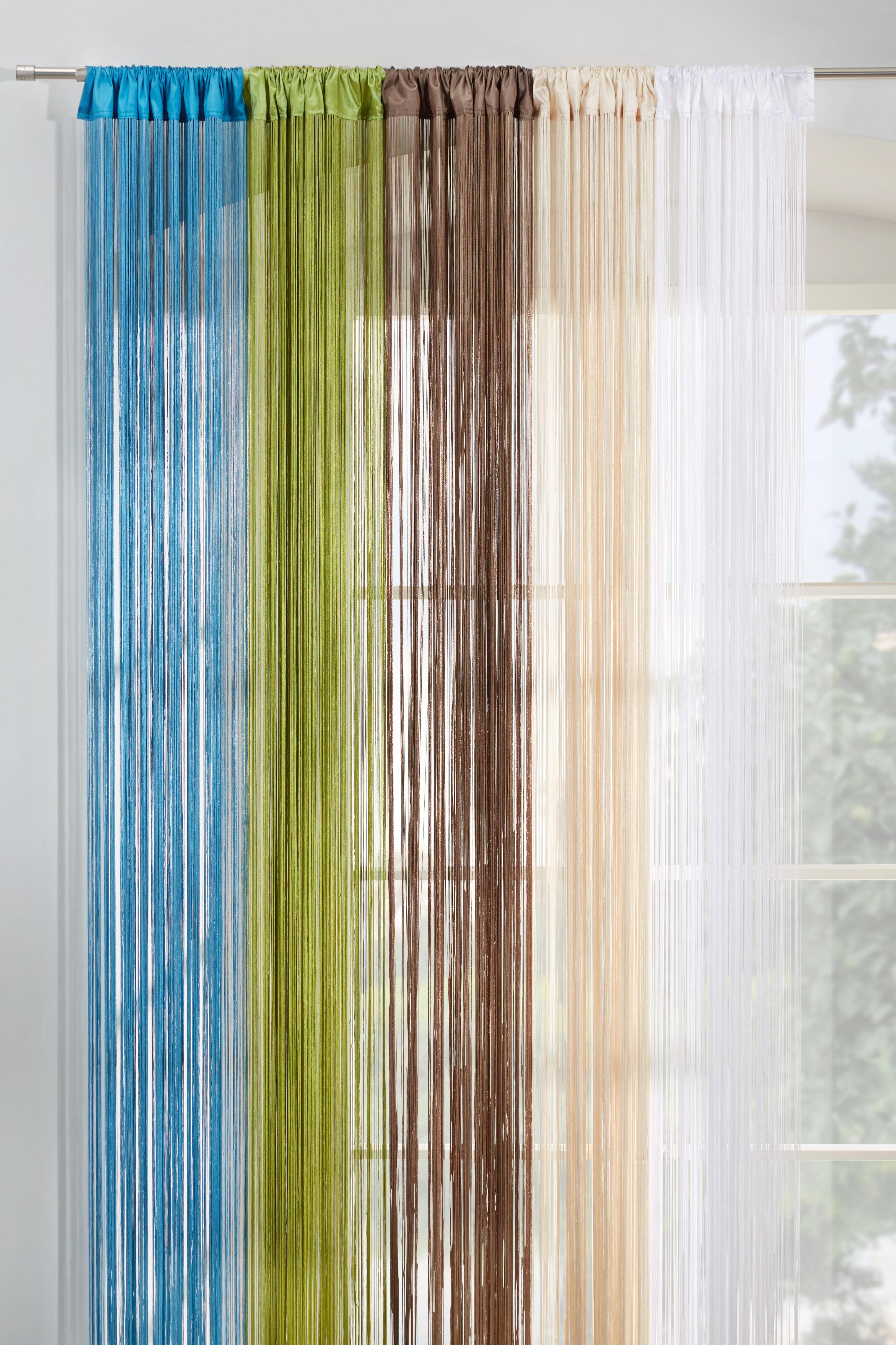 Fadenstore Victoria in Weiß, ca. 90x245cm - Weiß, Textil (90/245cm) - MÖMAX modern living