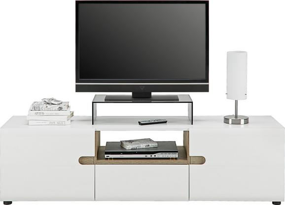 Mizica Za Hi-fi Naprave Linate - bela/hrast, Design, leseni material (164/46/42cm) - Mömax modern living