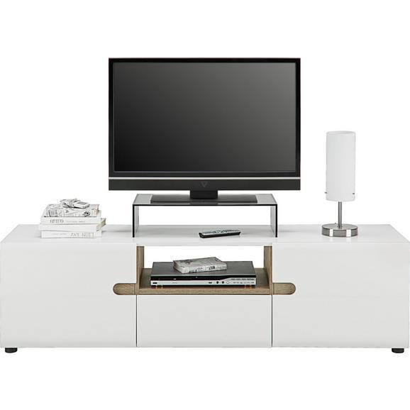 Phonotisch in Weiß Hochglanz - Eichefarben/Weiß, MODERN, Holzwerkstoff (164/46/42cm) - Modern Living