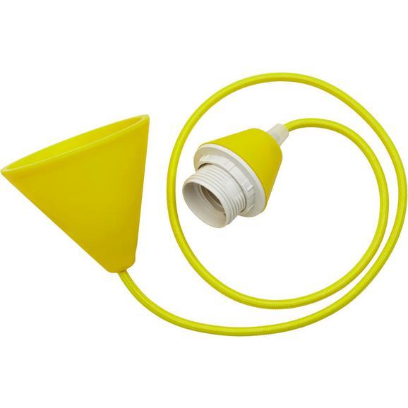 Schnurpendel Coli Gelb max. 60 Watt - Gelb, Kunststoff/Textil (120cm)
