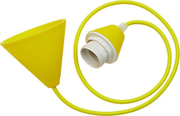 Schnurpendel Coli in Gelb, max. 60 Watt - Gelb, Kunststoff/Textil (120cm)