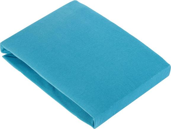 Spannleintuch Basic In Azur, ca. 150x200cm - Blau, Textil (150/200cm) - MÖMAX modern living