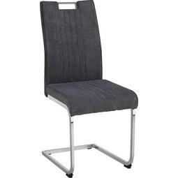 Schwingstuhl in Grau - Chromfarben/Grau, MODERN, Textil/Metall (42/98/56cm) - Modern Living