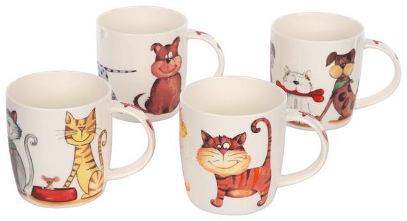 Skodelica Cats - večbarvno, keramika (0,36l)