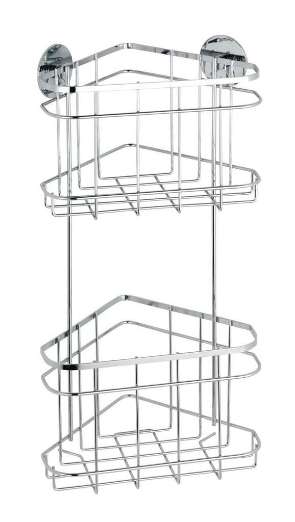 Duschregal aus Edelstahl - MODERN, Metall (22,5/47,5/15,5cm) - Mömax modern living