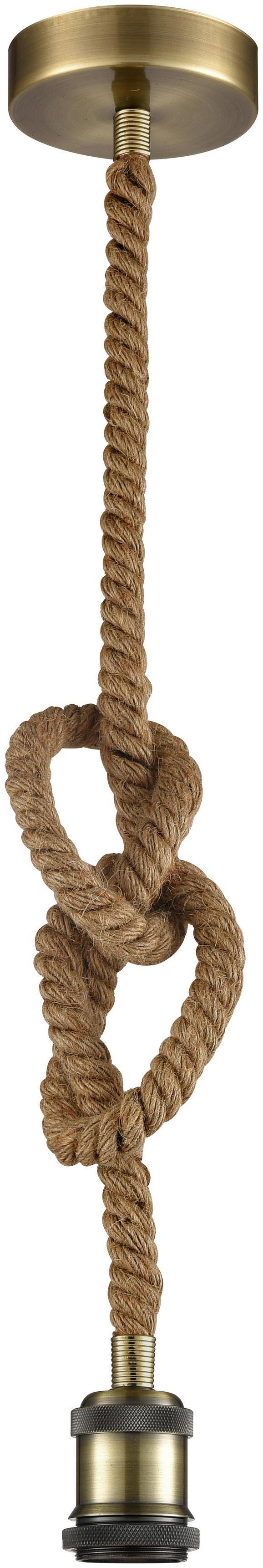 Schnurpendel Christian Braun - Braun, LIFESTYLE, Textil (120cm) - Modern Living