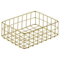 Košara Manhattan I - zlata, kovina (20/15/6cm)
