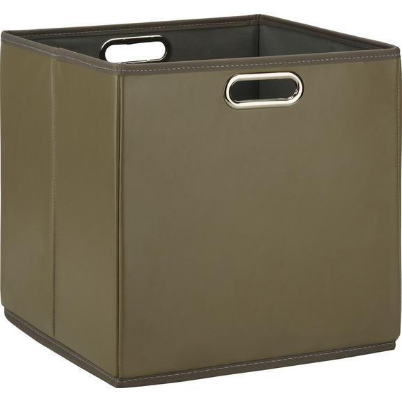 Škatla Za Shranjevanje Ivy - rjava, kovina/umetna masa (33/32/33cm) - Mömax modern living