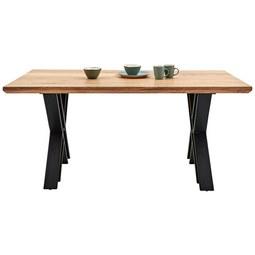 Esstisch aus Akazie massiv - Schwarz/Naturfarben, LIFESTYLE, Holz (160/76/90cm) - Zandiara