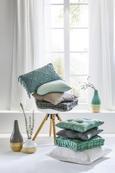 Zierkissen Zippmex Weiß ca. 50x50cm - Weiß, Textil (50/50/cm) - Based