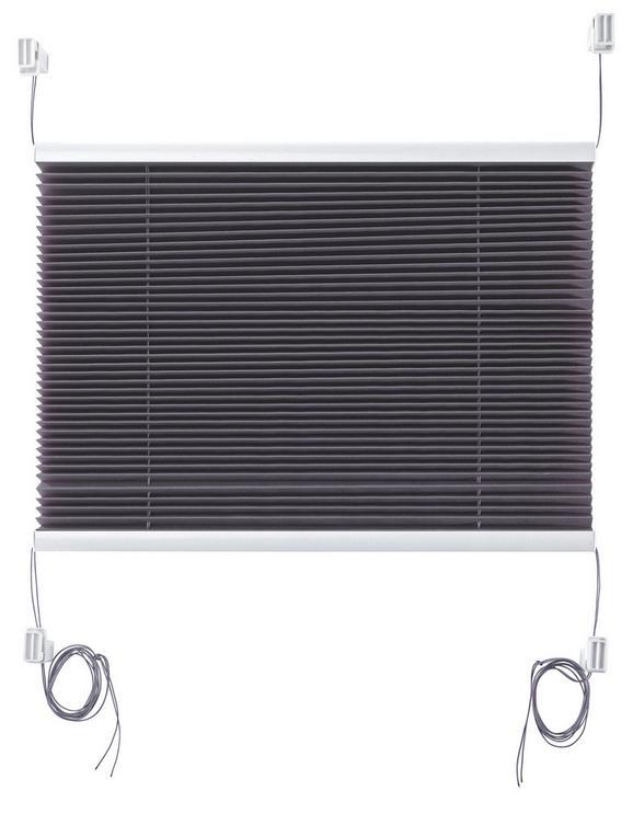 Plissee Free Verspannt, ca. 50x130cm - Anthrazit, Textil (50/130cm) - Mömax modern living