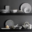 Farfurii Shiva - alb/negru, Lifestyle, ceramică (20/11/2,5cm) - Modern Living