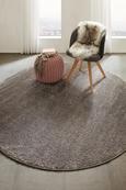 Webteppich Rubin, Ø ca. 200cm - Aubergine, ROMANTIK / LANDHAUS, Kunststoff (200/200cm) - Mömax modern living
