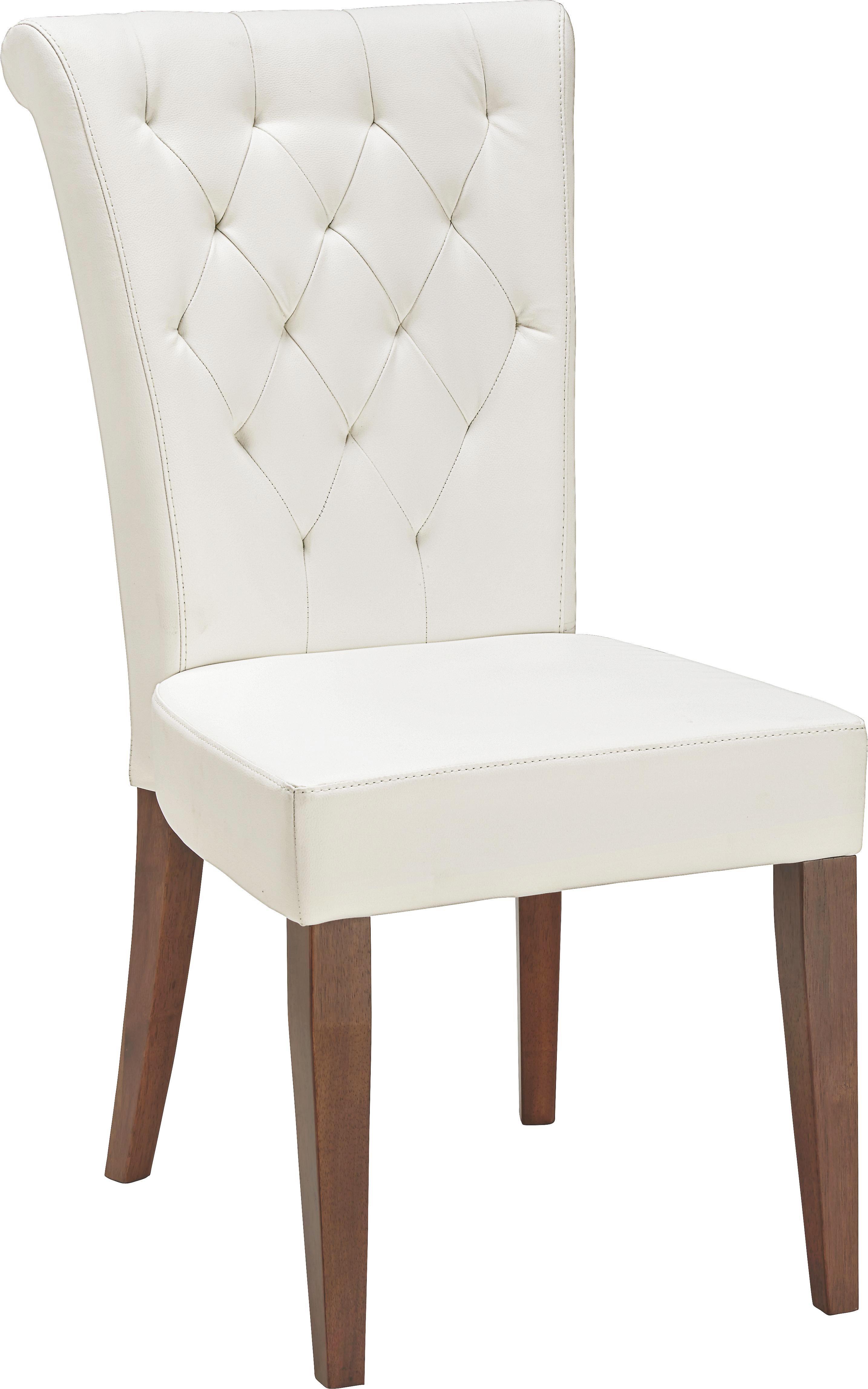 Stuhl in Weiß - ROMANTIK / LANDHAUS (52/99/70,50cm) - ZANDIARA