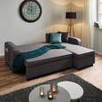 Wohnlandschaft Selena mit Schlaffunktion und Bettkasten - Grau, MODERN, Holz/Textil (250/161cm) - Modern Living