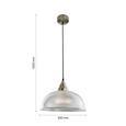 Pendelleuchte Muriel - Klar, MODERN, Glas/Metall (30/120cm) - Modern Living