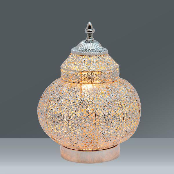 Asztali Lámpa Orient 1 - nikkel színű, Lifestyle, fém (20/27cm) - MÖMAX modern living