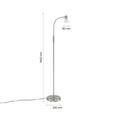 Stehleuchte Albert, max. 40 Watt - Weiß, KONVENTIONELL, Glas/Metall (146cm)