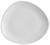Speiseteller Nele aus Steinzeug in Weiß - Weiß, MODERN, Keramik (26,3/23/2,5cm) - Premium Living