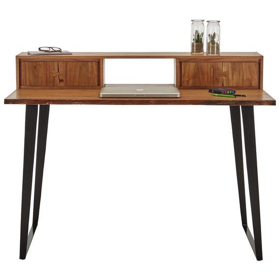 Schreibtisch In Akaziefarben Massiv