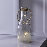 Dekoflasche in Transparent mit LED Ø/Hca.10/25cm 'Parker' - Transparent, MODERN, Glas (10/25cm) - Bessagi Home