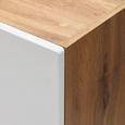 Kuhinjska Zgornja Omarica Stella H50 - bela/hrast, kovina/leseni material (50/57/37cm)