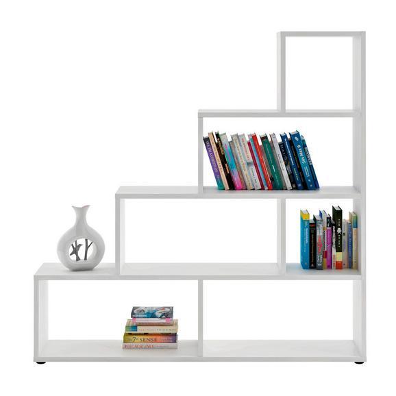 Etajeră Vico - alb, Modern, compozit lemnos (148/148/33cm)