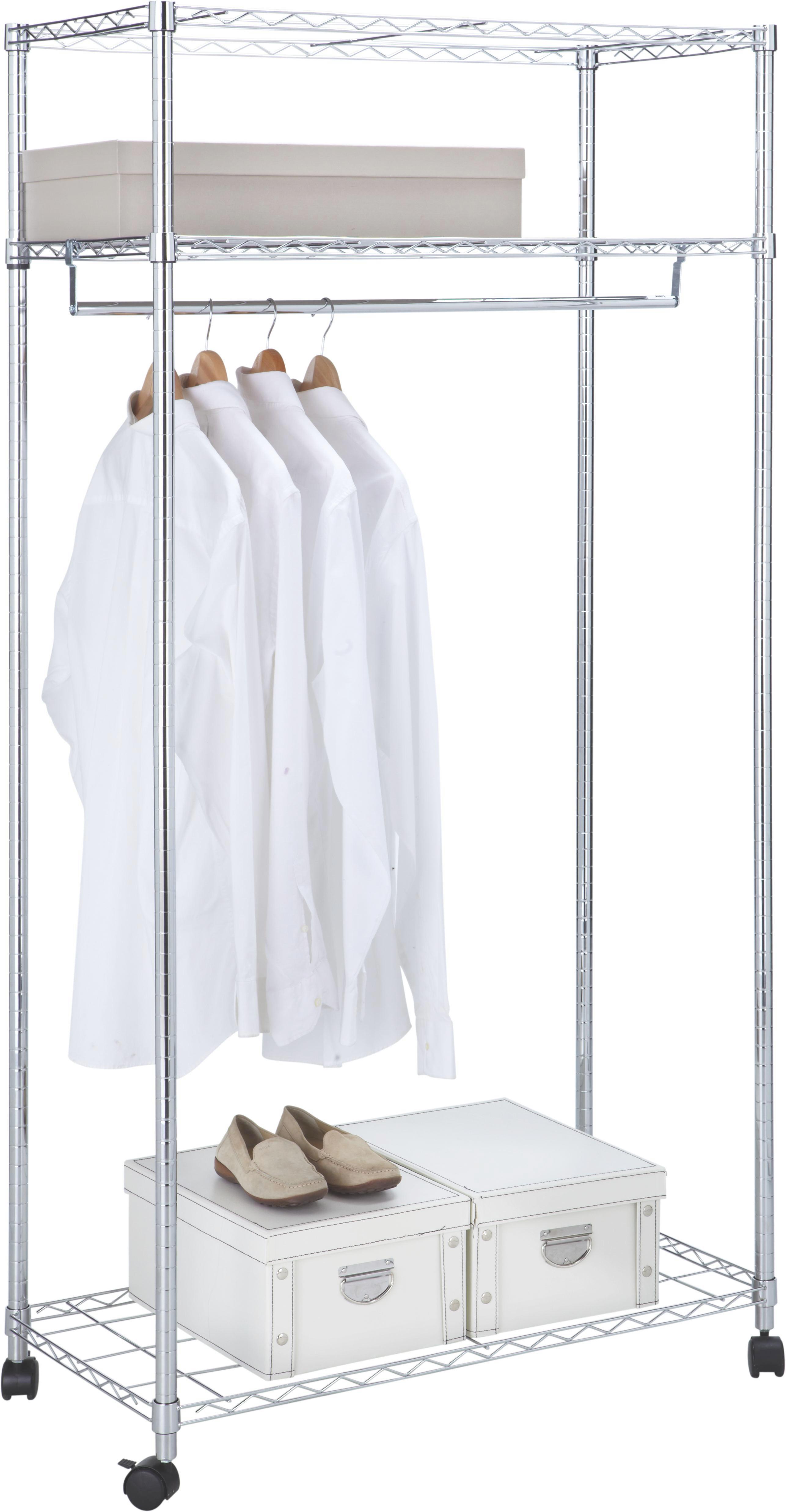 Mobilno Stojalo Za Obleke Saturn - barve kroma, kovina/umetna masa (91/182,5/46cm) - MÖMAX modern living