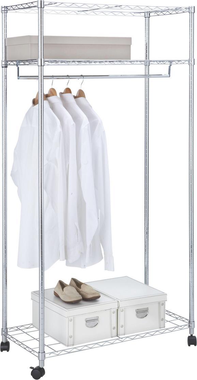 Mobilno Stojalo Za Obleke Saturn - krom, kovina/umetna masa (90,7/182,5/45,8cm) - Mömax modern living