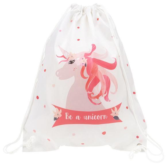 Sportbeutel Unicorn Rosa/Weiß/Pink - Pink/Rosa, Kunststoff (35/40/1cm)