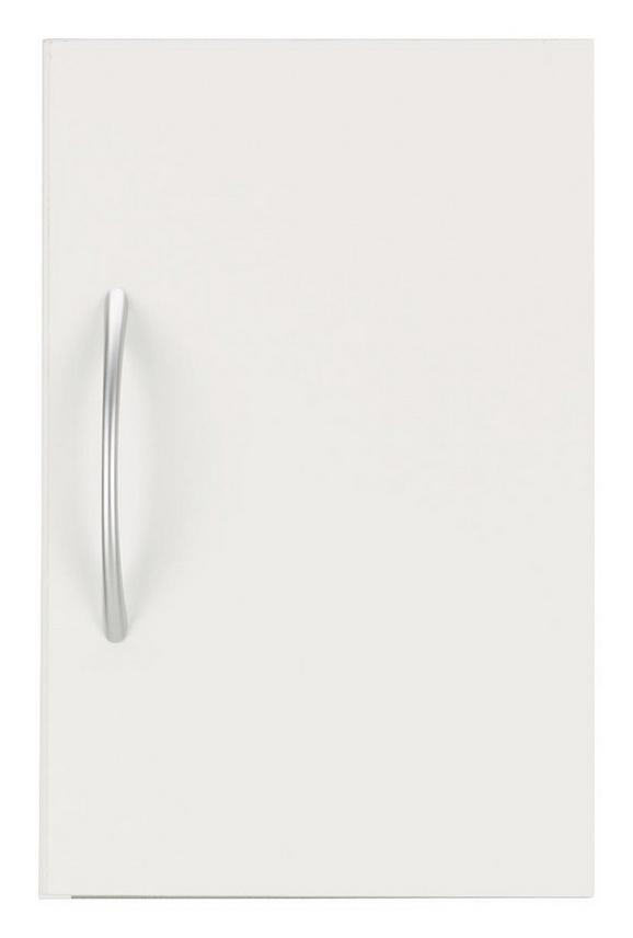 Aufsatzschrank Weiß - Alufarben/Weiß, Holzwerkstoff/Kunststoff (30/40/40cm) - MÖMAX modern living